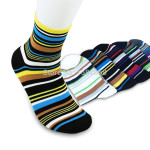 -1-pair-Free-Shipping-Autumn-100-Cotton-Elegant-Stripe-Multicolour-Socks-Men-Value-Assorted