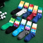 Harajuku-Gradient-Color-Lattice-Pure-Men-Socks-Cotton-Women-Knitted-Happy-Socks-Male-High-Business-Stockings